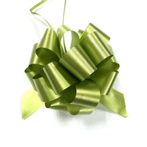 """5"""" Matte Pull Bows - 50 bows/case - Spring Moss"""