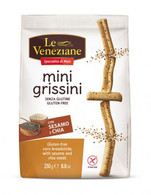 Le Veneziane Gluten Free mini grissini with Sesame 250 gr., 8/cs