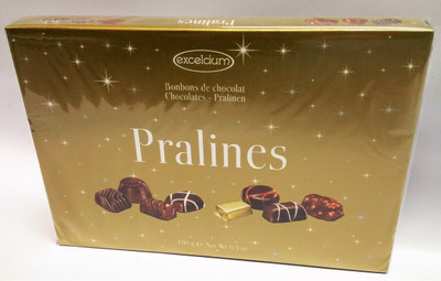 Excelcium Chocolate Pralines Gold with stars 180 gr., 16/cs