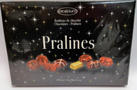 Excelcium Chocolate Pralines - Black with stars 180 gr., 8/cs