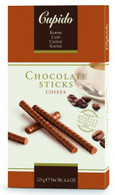Cupido Chocolate Sticks - Coffee 125 gr. 12/cs