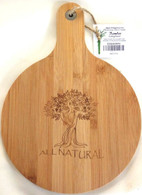 "Round bamboo cutting board with "" All Natural "" engraved  9.5""x0.4""x13.5"" After receiving countless requests for cutting boards, Apex Elegance is happy to offer you an exclusive and Unique line of Bamboo cutting boards designed in Canada at very affordable prices."