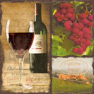 "Lunch napkins - Wine 6.5""x6.5"""