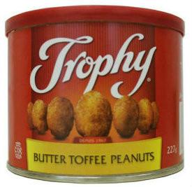 Trophy peanuts - butter toffee 227 gr.,12/cs