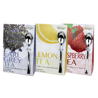 Too Good Gourmet assorted teas (6 Tea Bags/pack),24/cs  8 pcs. Earl Grey, 8 Lemon, 8 Raspberry.