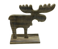"Wooden vintage Moose - Medium  8""x7.5""H"
