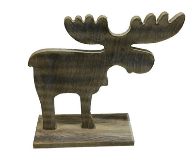 "Wooden vintage Moose - Medium  8""x7.5""H"