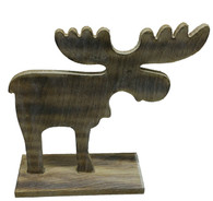 "Wooden vintage Moose - Large   10""x9.5""H"