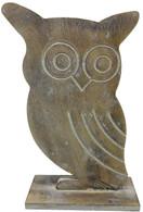 "Wooden vintage Owl 6""x10""H"