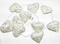 "10 Hearts, Decorative LED Wire heart light up garland (65"" Long) (2 AA batteries not included)"