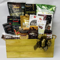 Gift basket kit CBX660TS, To make 12 Vintage Gourmet gift baskets. 16 Items Plus Shredded paper, Cellophane bag and Pull bow.