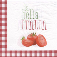 "Lunch napkins - La Bella Italia 6.5""x6.5"""
