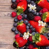 "Lunch Napkins - Berries 6.5""x6.5"""