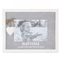 "BAPTISM photo frame for 6""x4""H photo (9.5""x7""H)"