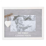"FIRST COMMUNION photo frame for 6""x4""H photo (9.5""x7""H)"
