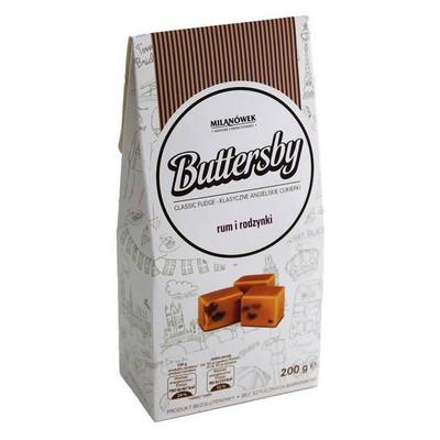 Milanowek Buttersby classic fudge - Rum & Raisin 200 gr., 21/cs