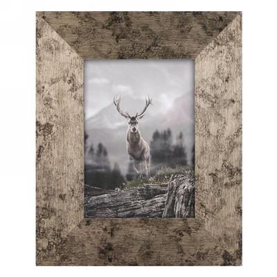 "Antique gold 5x7 photo frame - deer (8.5""x10.5"")"