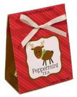 Too Good Gourmet 6 Tea Bags - Peppermint Tea 24/cs Reindeer design