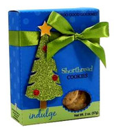 Too Good Gourmet shortbread cookies in adorable holiday packaging with 3-D Glitter Tree 57 gr., 24/cs