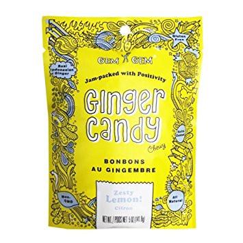 Gem Gem Ginger Candy - Lemon 100 gr., 12/cs