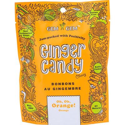 Gem Gem Ginger Candy - Orange 100 gr., 12/cs
