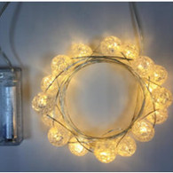 "20 warm white LED light garland - MARBLES, approx 2 m (78"") long (3 AA batteries not included)"