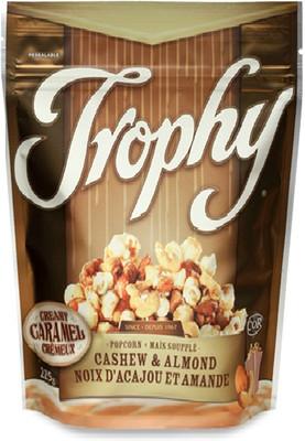 Trophy's Creamy Caramel popcorn with Cashew & Almond 225 gr., 12/cs