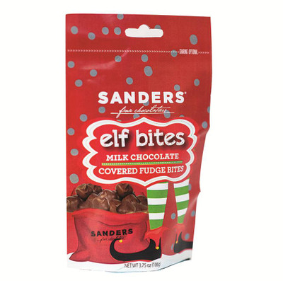Sanders Elf Bites - Milk chocolate covered fudge bites 106 gr., 12/cs