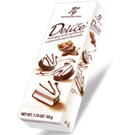 Tago Delice - meringue with nut flavour cream & dark chocolate 50 gr., 18/cs