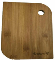 "Bamboo cutting board with ""Antipasto"" engraved 8"" ( 6""x0.4""x8"")"