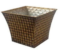 "Metal square container 11""x11""x9""H"