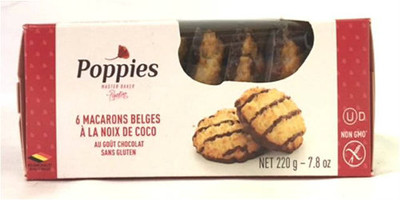 Poppies Belgian coconut Macaroons 220 gr., 12/cs