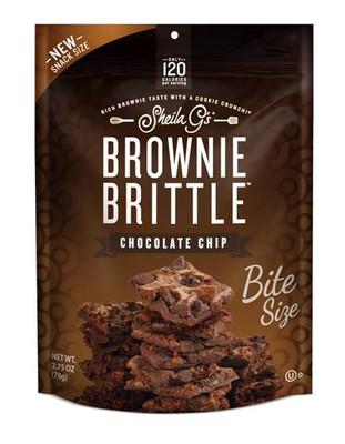 Sheila G's Brownie Brittle – Bite Size Chocolate chip 77 gr. 8/cs