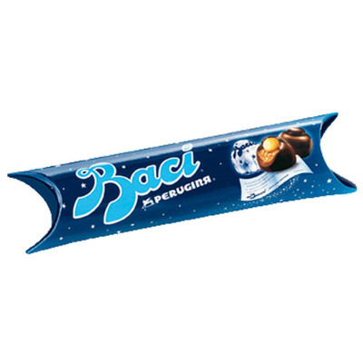 Perugina Baci 3 PC Tube - dark chocolate with hazelnut filling 44 gr., 14/cs