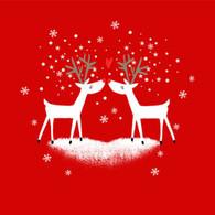 "Lunch napkins - Loving Reindeer 6.5""x6.5"""