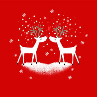 "Lunch napkins - Loving Reindeer 6.5""x6.5"""