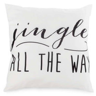 "JINGLE cushion in black & white 17""x17"""