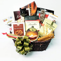 Christmas Gourmet gift basket kit CBQ398V includes 14 Items,. Plus Shredded paper, Cello Bag & Pull Bow.