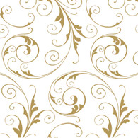 "Gold SWIRLS printed Cellophane roll 40""x100'"