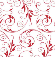 "Red SWIRLS printed Cellophane roll 40""x100'"