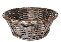 "14"" Round brown willow basket"