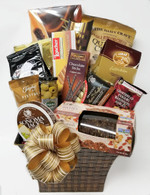 Apex Elegance Christmas Gourmet gift basket KIT includes 15 Items plus shredded paper, cello bag and Pull Bows.  Do it yourself Gift Basket!  Square & flared metal container - weave design Maitre Truffout assorted pralines 400 gr., 12/cs Maitre Truffout assorted pralines 400 gr., 12/cs 858641003832 QUINUA Miscellaneous item Cherrington Assorted Bon Bons 75 gr., 12/cs Feiny mignon hazelnut cookies 200 gr., 10/cs Loacker Fine Milk Chocolate Biscuits with coffee cream 100 gr. 12/cs Lumar Truffle pralines - Chocolate 120 gr.,  10/cs Trianon chocolate sticks - Cappuccino 75 gr., 12/cs Paterson shortbread 150 gr/. 18/cs East Shore Dipping Pretzels 170 gr., 18/cs Trophy Fistfuls - Honey Roasted Peanuts 60 gr., 12/cs Maitre Truffout Espresso pralines 100 gr., 16/cs Sonoma Jacks Gourmet Original Processed Cheese 114 gr., 12/cs Kii Naturals Artisan Crisps - Date & Walnut with Fennel 150 gr., 12/cs Fragata whole green olives 145 ml., 24/cs Pull bow, Cellophane bag, Spring-fill shredded paper