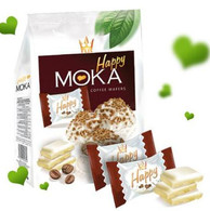 FLIS Happy Moka - Coated wafers with coffee flavoured filling 140 gr., 10/cs