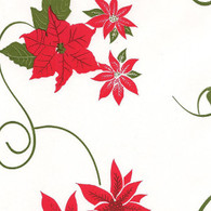 "POINSETTIA Red & Green Printed Cellophane roll 40""x100'"