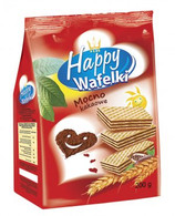 FLIS Happy Chocolate wafers  200 gr., 10/cs