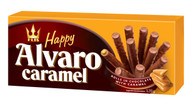 Flis Happy ALVARO Chocolate rolls with caramel filling 120 gr., 14/cs