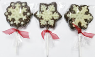 Chocolate Lolly Snow Flake 24/cs (3 styles) - 8 of each