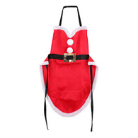 """Fabric Mrs. Clause apron 21""""x29"""""""