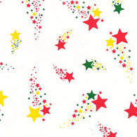 "Multiple Colour stars printed Cellophane roll 40""x100'"