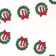 "Wreath Printed Cellophane roll 40""x100'"